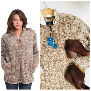 Simply Southern Shirt Co SOFT Sherpa pullover M
